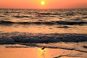 Pristine Beaches Framed Prints - Sunset At St. Joseph Framed Print by Adam Jewell