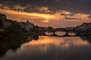 San Rafael Church Prints - Sunset at the Arno 3 Print by Arnaldo Torres