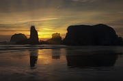 Bandon Beach Posters - Sunset at the Coast Poster by Andrew Soundarajan