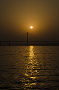 Saraswati Framed Prints - Sunset at the Ganga - Allahabad Framed Print by Rohit Chawla