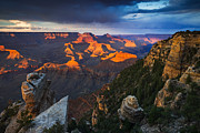 Yaki Prints - Sunset at the Grand Canyon Print by Adam Schallau