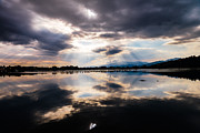 Dark Photos - Sunset at the lake by Mirko Chessari