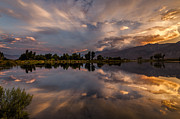 Eastern Sierra Prints - Sunset at the Pond Print by Cat Connor