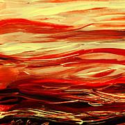 Irina Sztukowski - Sunset At The Red River Abstract