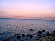 Jordan Photo Originals - Sunset at the Sea of Galilee by Sandra Pena de Ortiz