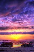 Sunset At Treasure Cove Print by Eddie Yerkish