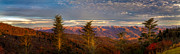 Blue Knob Mountain Posters - Sunset at Waterrock Knob Poster by Deborah Scannell