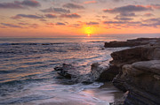 Sunset At Windansea Beach Print by Eddie Yerkish