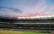 Jeter Photos - Sunset at Yankee Stadium by Robert Wingate