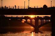 Austin. Bats Framed Prints - Sunset Austin Framed Print by Bindu Viswanathan