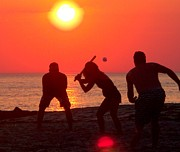 Glenn Mccurdy Prints - Sunset Baseball Print by Glenn McCurdy