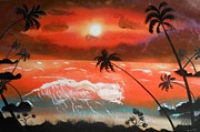 Amy LeVine - Sunset Beach Silhouette