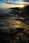Ri Lighthouse Prints - Sunset Beyond Print by Lourry Legarde
