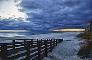 Fence Digital Art Originals - Sunset Boardwalk by Michael Thomas
