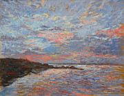 Most Popular Paintings - Sunset Bodega Bay by Monica Caballero