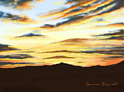 Sunset Digital Art Prints - Sunset Bologna Print by Veronica Minozzi