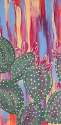 Marcia Weller-wenbert Metal Prints - Sunset Cactus 2 Metal Print by Marcia Weller-Wenbert