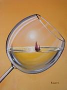 Sunset Chardonnay Print by Ksusha Scott