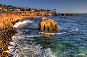 Sunset Seascape Framed Prints - Sunset Cliffs Framed Print by Eddie Yerkish