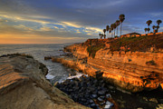 Rocks Photo Posters - Sunset Cliffs Poster by Peter Tellone