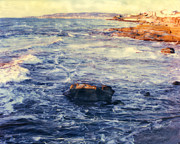 Surf Photos Art Originals - Sunset Cliffs Waves by Glenn McNary