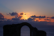 Terri Waters Framed Prints - Sunset Clouds at Botallack Cornwall Framed Print by Terri  Waters