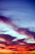 Cloudscapes Posters - Sunset Cloudscape Poster by Kevin Miller