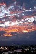 Lehua Pekelo-Stearns - Sunset Cloudy Skies over...