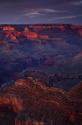 South Rim Prints - Sunset Colors at the Grand Canyon Print by Andrew Soundarajan