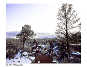 Blue Skies Prints - Sunset Crater  Signed Print by Gilbert Artiaga