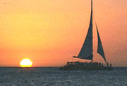 Sunset Sailing Prints - Sunset Dance Print by Cristophers Dream Artistry