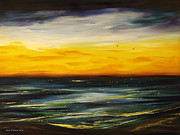 Sunsets Original Paintings - Sunset Drama by Gina De Gorna