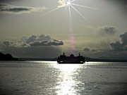 Chalet Roome-rigdon Prints - Sunset Ferry 2 Print by Chalet Roome-Rigdon