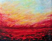 Sunset Fiery Print by Teresa Wegrzyn