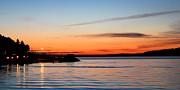 Alki Beach Prints - Sunset from Alki Beach Print by Jenny Hudson