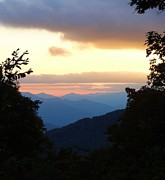Tennesee Posters - Sunset From Blue Ridge Parkway Poster by Dan Sproul