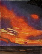 Featured Pastels Prints - Sunset From The Beach Print by Wade Starr