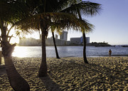Puerto Rico Prints - Sunset Glow on Condado Beach Print by George Oze