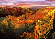 Lapin Framed Prints - Sunset Grand Canyon Arizona Framed Print by Nadine and Bob Johnston