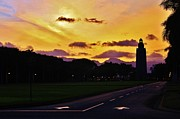Hickam Posters - Sunset Hickam Air Force Base Freedom Tower Poster by Craig Wood