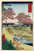Hiroshige Prints - Sunset Hill Meguro in the Eastern Capital Print by Nomad Art And  Design