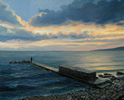Horizon Paintings - Sunset in Balchik by Kiril Stanchev