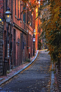 Brownstone Art - Sunset in Beacon Hill by Joann Vitali