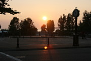 Crosswalk Photos - Sunset in Blaine by Michelle Densmore