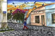 Graciela Bello Art - Sunset in Colonia del Sacramento by Graciela Bello