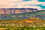 Photographs Mixed Media - Sunset in Cottonwood View is N Towards Sedona Arizona by Bob Johnston