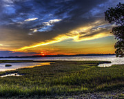 Tim Buisman Metal Prints - Sunset in Delaware Metal Print by Tim Buisman