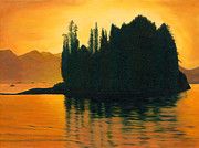 Phillip Compton Posters - Sunset in Juneau Alaska Poster by Phillip Compton