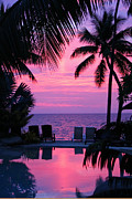 Red Sky Prints - Sunset in Paradise Print by Lars Ruecker