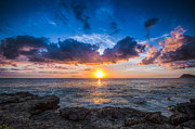 Mike Lee Metal Prints - Sunset in Paradise Metal Print by Mike Lee